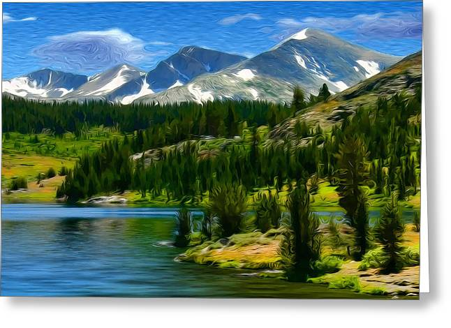 Tioga Lake Frank Lee Hawkins Greeting Card