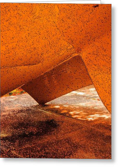 Tipping Point Greeting Card by Marcia Lee Jones