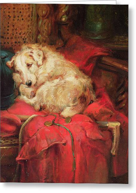 Tired Out Greeting Card by Philip Eustace Stretton