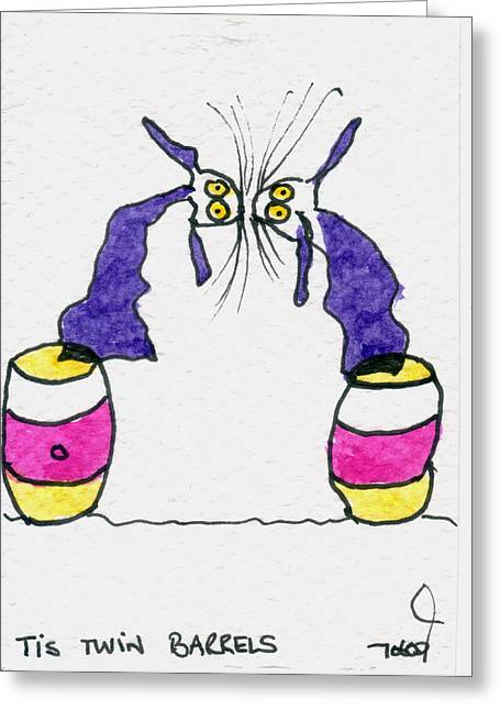 Tis Twin Barrels Greeting Card