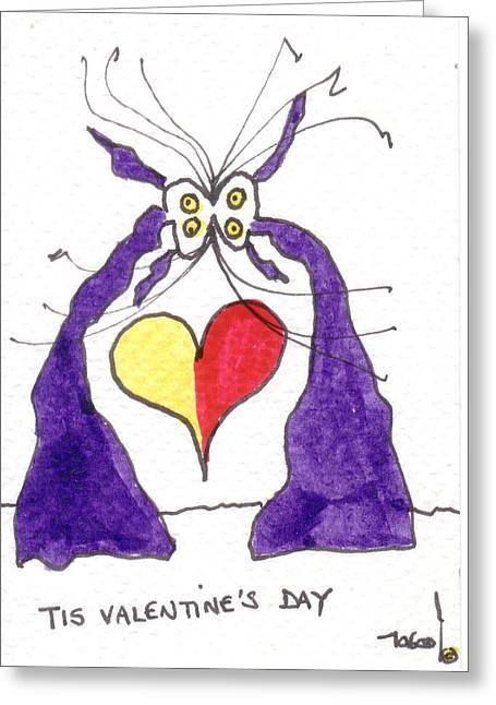 Tis Valentine's Day Greeting Card by Tis Art