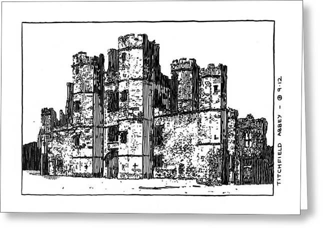 Titchfield Abbey Greeting Card by Peter Smith