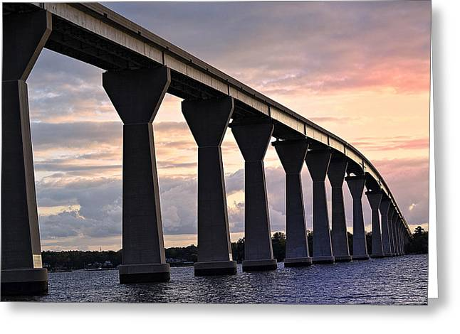 Greeting Card featuring the photograph Tj Bridge by Kelly Reber