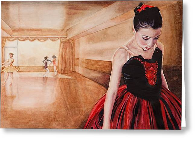 To Dance To Dream Greeting Card by Kathy Michels
