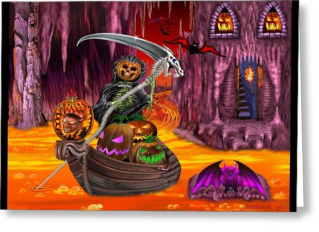 To Hell With Pumpkins Greeting Card by Glenn Holbrook