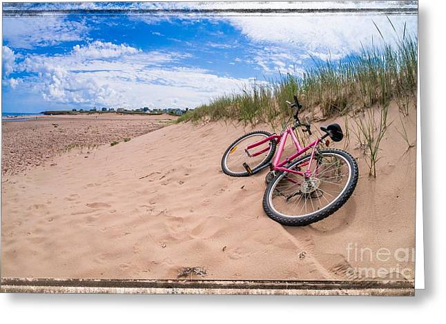 To The Beach Greeting Card by Edward Fielding