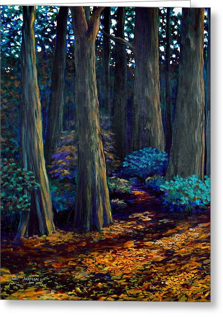 To The Woods Greeting Card by Jeanette Jarmon