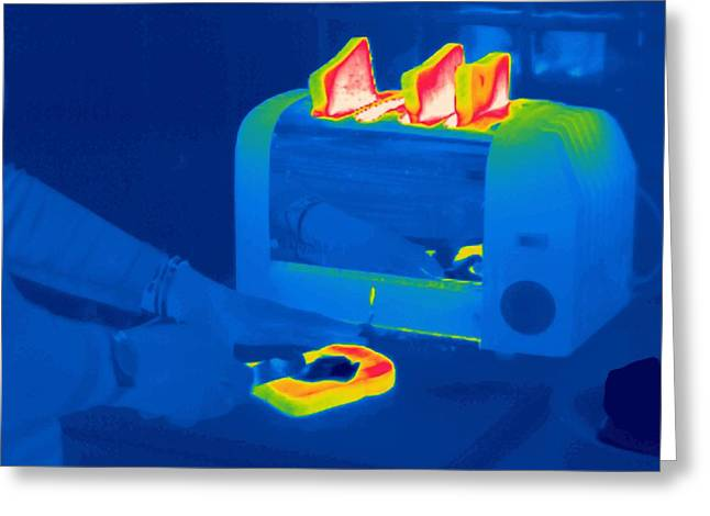 Toast, Thermogram Greeting Card by Tony Mcconnell