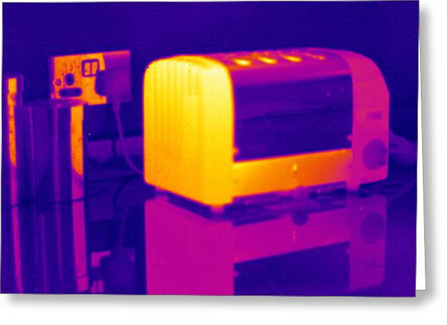 Toaster, Thermogram Greeting Card by Tony Mcconnell