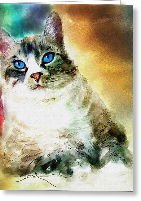 Toby The Cat Greeting Card by Robert Smith