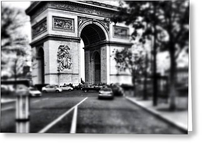 #today #paris #monument #bnw #monotone Greeting Card by Ritchie Garrod