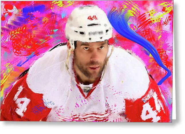 Todd Bertuzzi 3 Greeting Card by Donald Pavlica