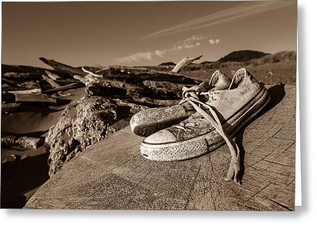 Greeting Card featuring the photograph Toes In The Sand by Randy Wood
