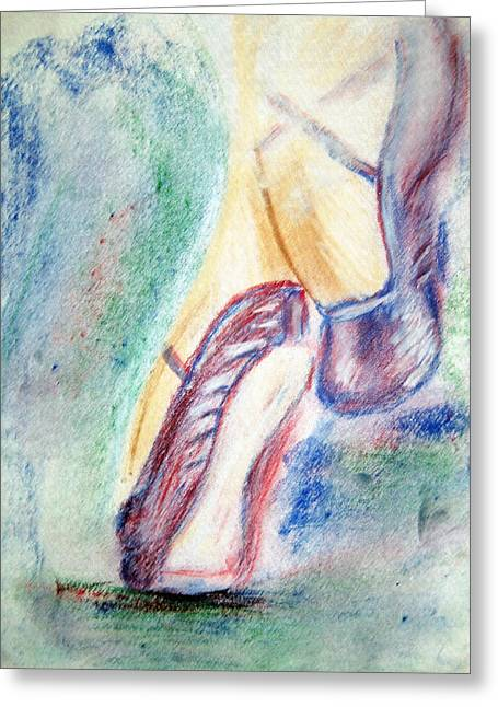 Toes Greeting Card by Shelley Bain