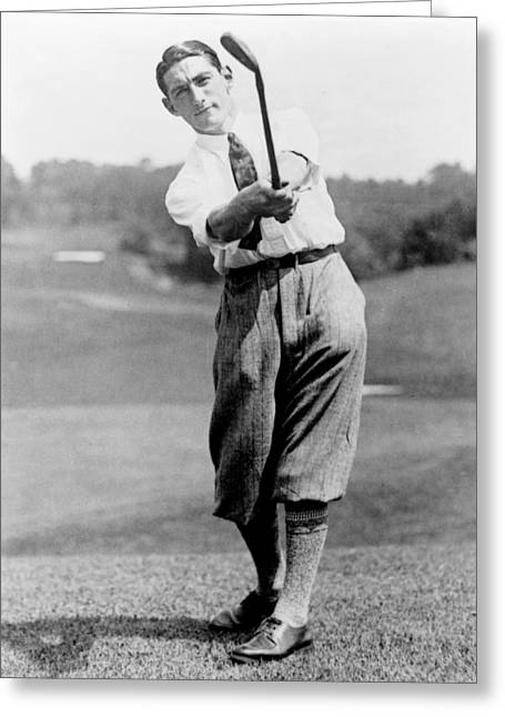 Tom Armour Wins Us Golf Title - C 1927 Greeting Card by International  Images