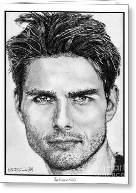 Tom Cruise In 1999 Greeting Card by J McCombie