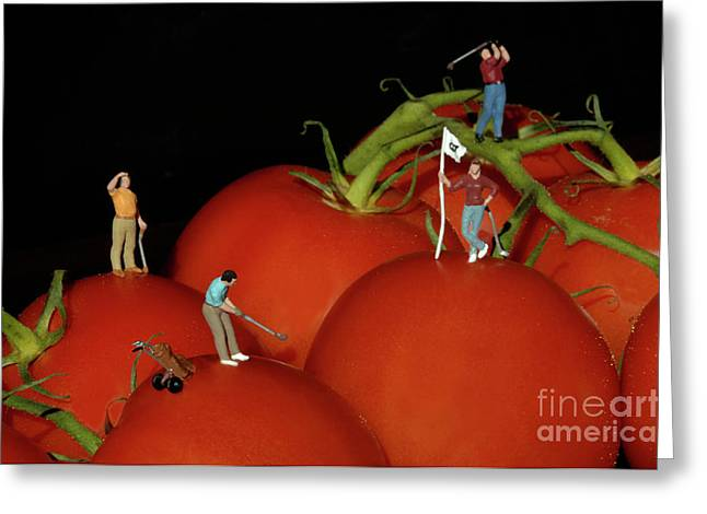 Tomato Beach Golf Classsic Greeting Card by Bob Christopher