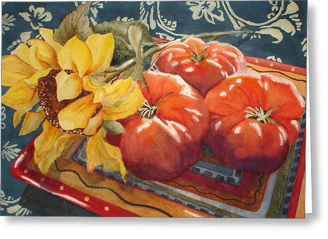 Tomatoes Greeting Card