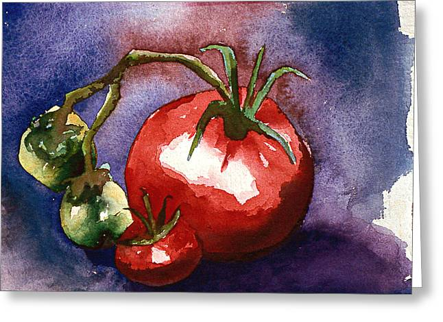 Tomatoes Greeting Card by Eunice Olson