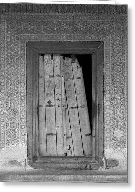 Greeting Card featuring the photograph Tomb Door by David Pantuso