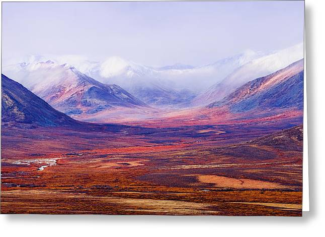 Tombstone Range And Fall Colours Greeting Card