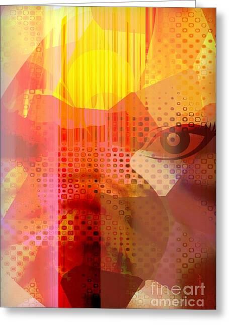 Too Bright Greeting Card by Fania Simon