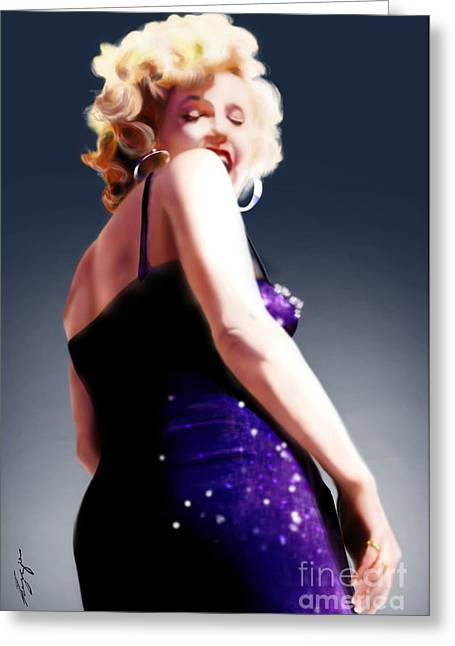 Too High To Climb - Monroe Greeting Card by Reggie Duffie