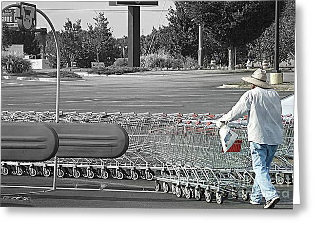 Greeting Card featuring the photograph Too Many Carts by Renee Trenholm