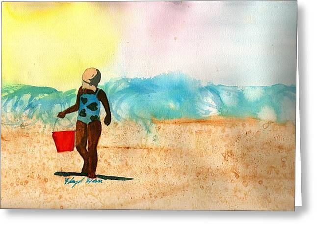 Too Much Sun Greeting Card by Floyd  Hiser
