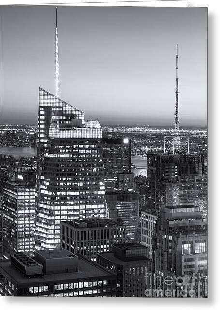 Top Of The Rock Twilight Vii Greeting Card by Clarence Holmes