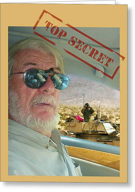Top Secret Greeting Card by Larry Mulvehill