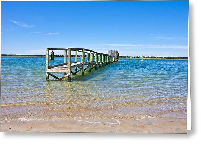 Topsail Island Sound Greeting Card by Betsy Knapp