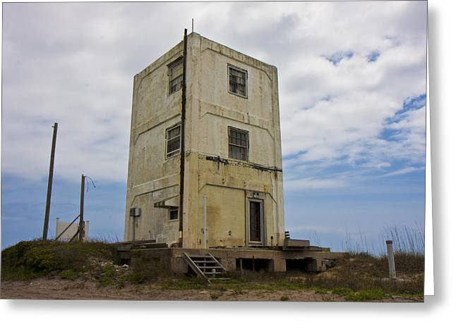 Topsail Island Tower 3 Greeting Card