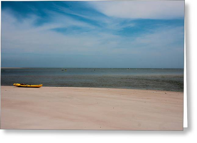 Topsail Kayak Greeting Card by Betsy Knapp
