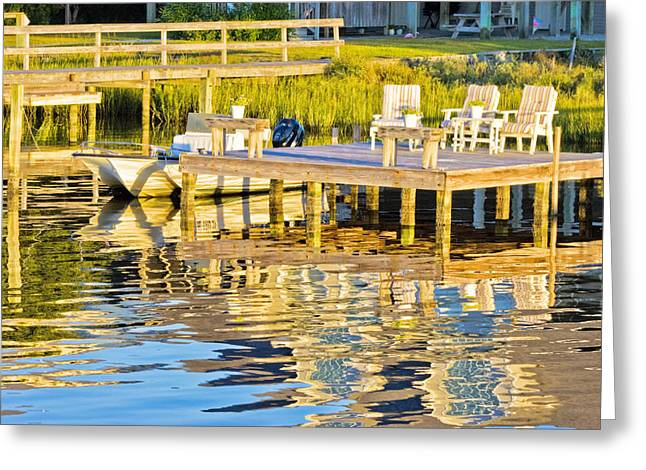 Topsail Sound At Sunset Greeting Card by Betsy Knapp