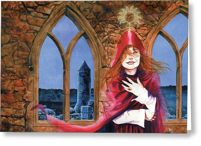 Tori Amos Mission Greeting Card by Ken Meyer jr