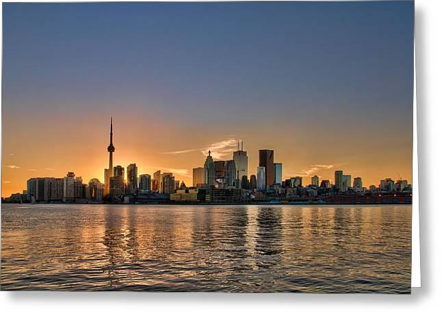 Toronto At Sunset Greeting Card