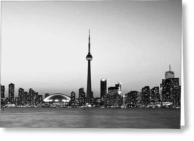 Toronto Cityscape Greeting Card by Aqnus Febriyant