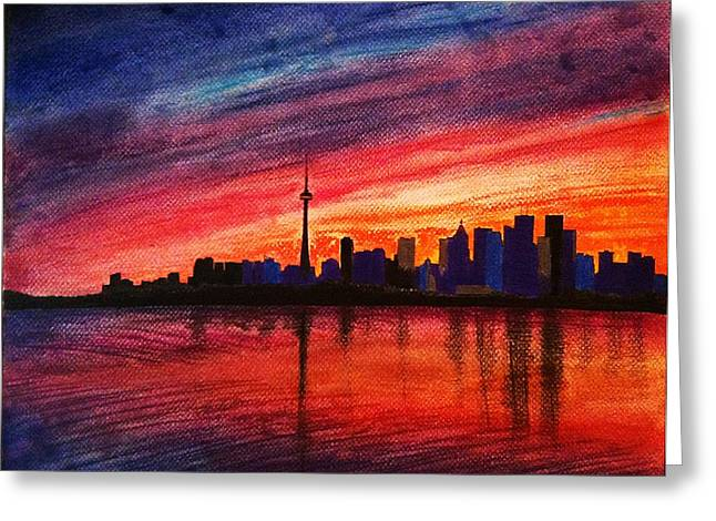 Toronto Skyline Greeting Card by Fariz Kovalchuk
