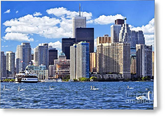 Toronto Waterfront Greeting Card by Elena Elisseeva