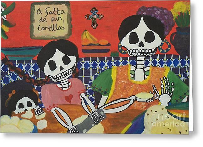 Tortillas Greeting Card by Sonia Orban-Price