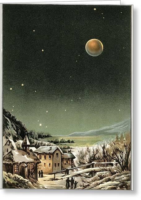Total Lunar Eclipse Of 1877 Greeting Card by Detlev Van Ravenswaay