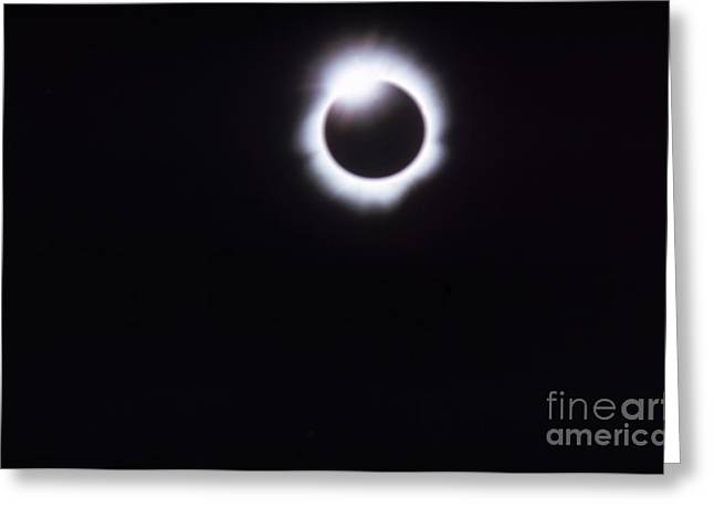 Total Solar Eclipse Greeting Card by Photo Researchers