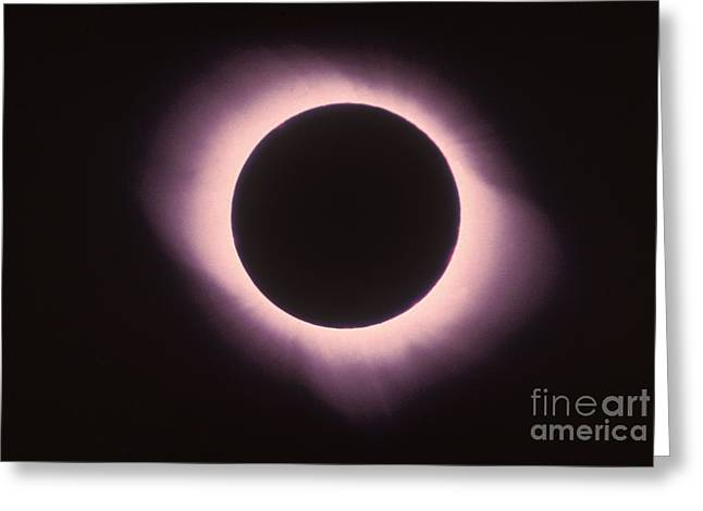 Total Solar Eclipse With Corona Greeting Card by Science Source