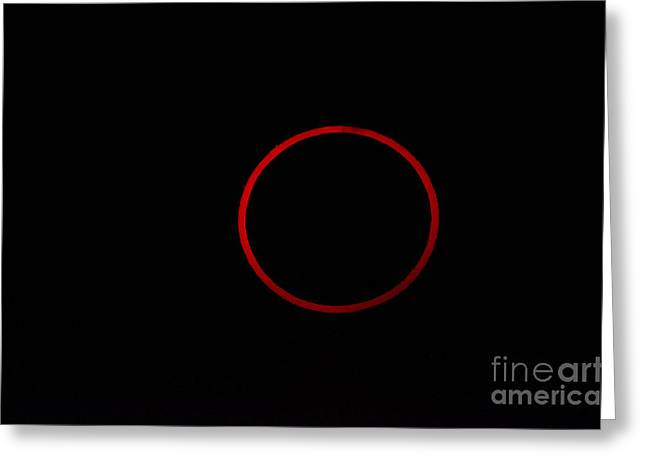 Totality During Annular Solar Eclipse Greeting Card by Phillip Jones