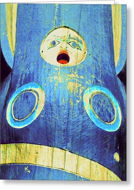 Totem 15 Greeting Card by Randall Weidner