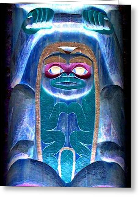 Totem 19 Greeting Card by Randall Weidner