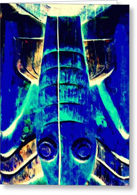 Totem 25 Greeting Card by Randall Weidner