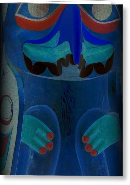Totem 41 Greeting Card by Randall Weidner