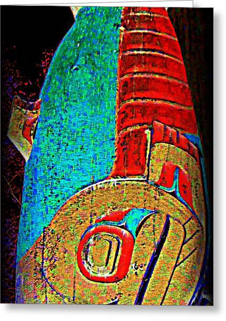 Totem 56 Greeting Card by Randall Weidner